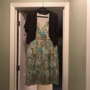 Macy's Dress and sweater